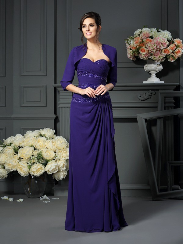 Chiffong 1/2-dels Ärm Special Occasion Fashion Wrap