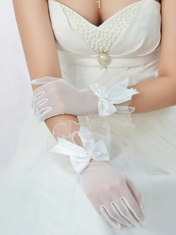 Best Tyll Rosetter Bridal Gloves