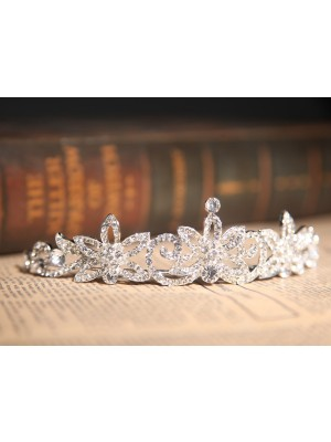 Gorgeous Clear Kristalls Flower Wedding Party Headpiece