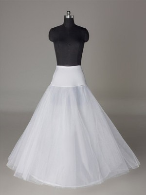 Tyll Nettoting A-linje 2 Tier Floor Length Slip Style Wedding Petticoat