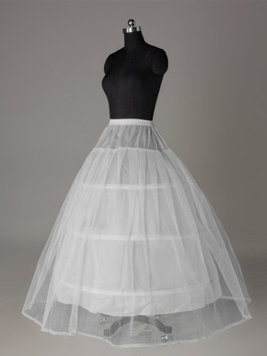 Tyll Nettoting Ball-Gown 2 Tier Floor Length Slip Style Wedding Petticoat