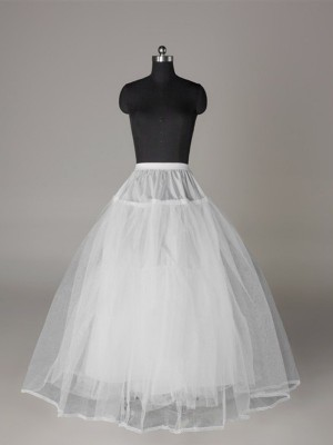Tyll Nettoting Ball-Gown 3 Tier Floor Length Slip Style Wedding Petticoat