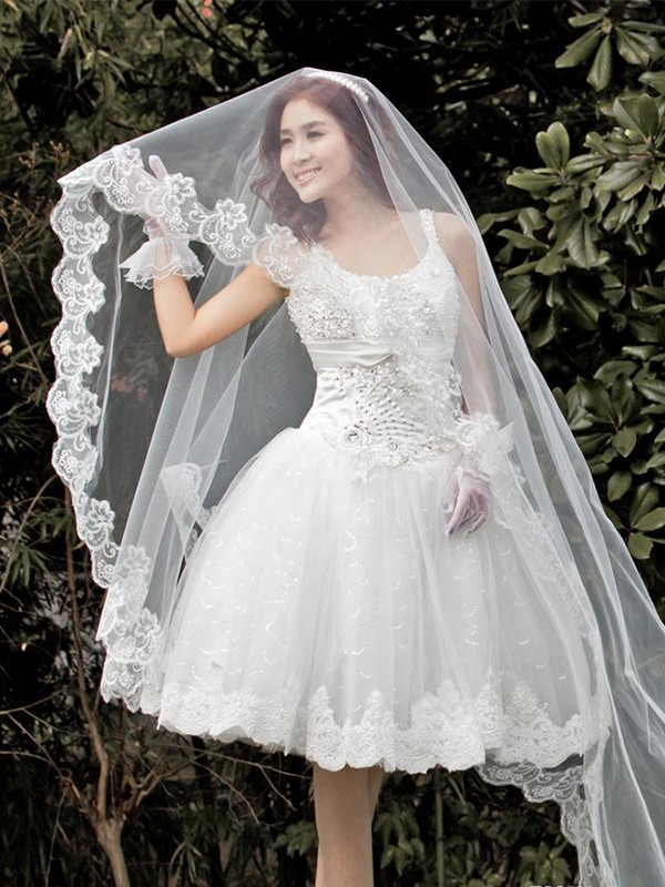 Gorgeous Tyll With Spets Wedding Veils