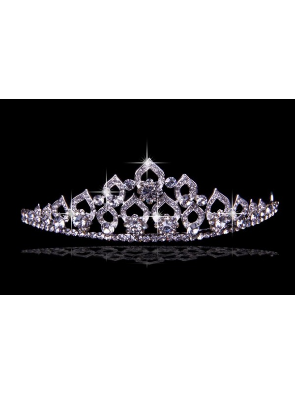Glamorous Alloy With Czech Rhen Stens Wedding Party Headpiece