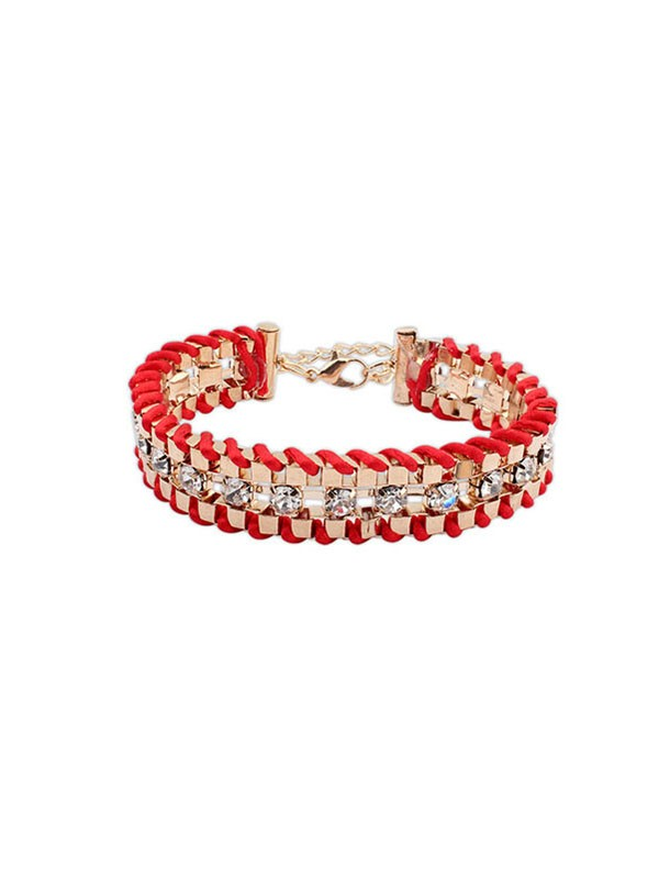 Occident Ethnic Customs Woven Rhen Sten Fashion Bracelets