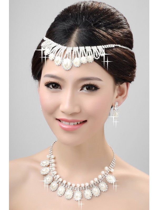 Nice Alloy Clear Kristalls Wedding Party Earrings Set