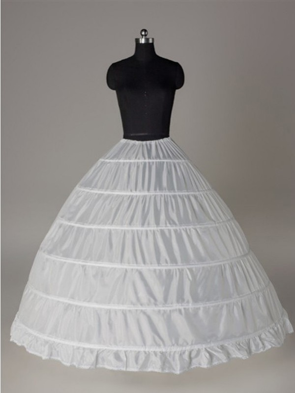 Nylon Ball-Gown 1 Tier Floor Length Slip Style Wedding Petticoat