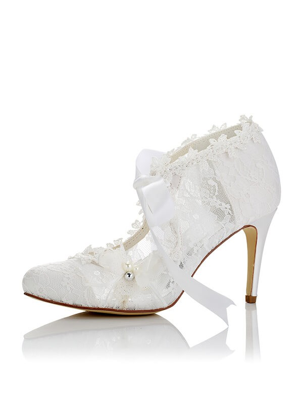 PU Closed Toe Stiletto Heel Wedding Shoes