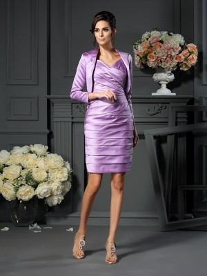 Satin 3/4-dels Ärm Special Occasion Fashion Wrap