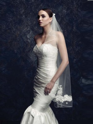 Elegant Tyll With Broderi Bridal Veils