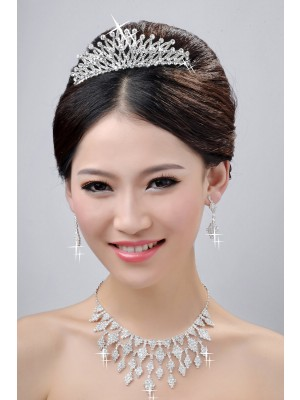 New Style Fashion Alloy Clear Kristalls Wedding Party Earrings Set