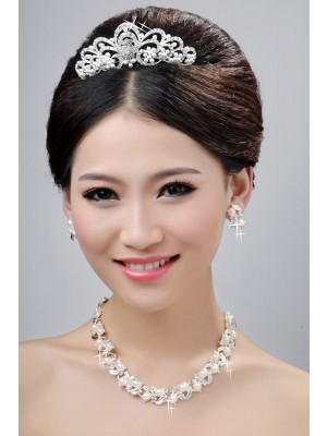 New Style Nice Alloy Clear Kristalls Wedding Party Earrings Set