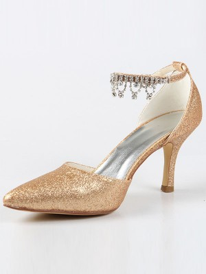 Mary Jane Closed Toe Cone Heel With Rhen Sten High Heels